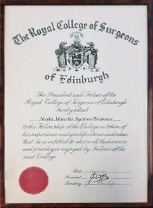 Edinburgh Royal College of Surgeons Fellowship